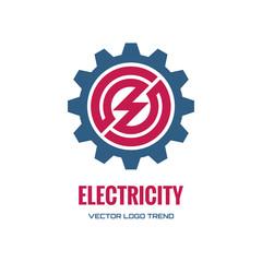 Electricity - vector logo concept illustration. Gear logo.