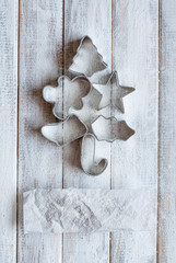 Pastry cutters in the shape of a Christmas tree