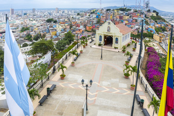 View from the Lighthouse of Santa Ana hill, Guayaquil (Ecuador)