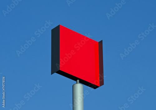 canvas print picture Rot auf Blau