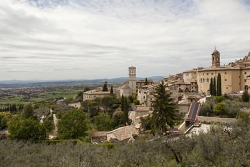 Панорама Губбио. Умбрия. Италия