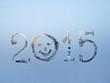 written on a winter window background