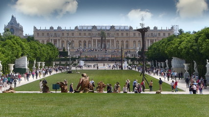 Crowds Of Tourists At Versailles, Paris In France