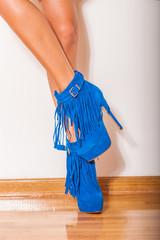 legs in high heel shoes