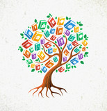 Fototapety Knowledge and Education concept tree books