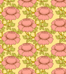 Seamless pattern with flowers, vector illustration