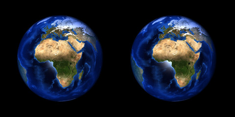 Earth stereo pair. For 3D images in any format.