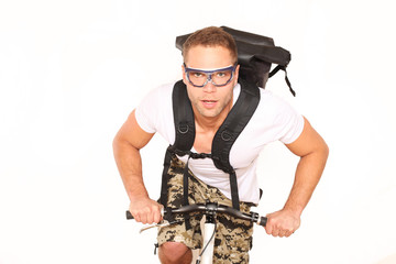 Kurierdienst auf Fahrrad