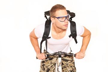 Fahrradkurier im Einsatz