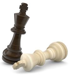 Schachfigur gefallener König