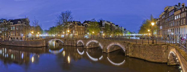 Grachten Amsterdam Panorama