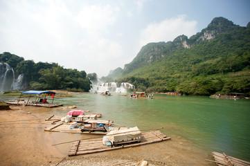 Datian waterfall in border China and Vietnam.