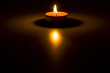 candle on the white background