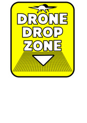 Rectangular Drone Drop Zone sign