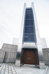 Entrance of St. Mary's Cathedral in Tokyo