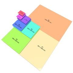 Paper size color paper