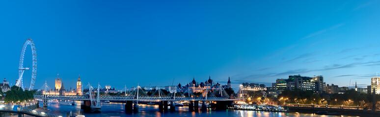 London and Thames Panorama at night