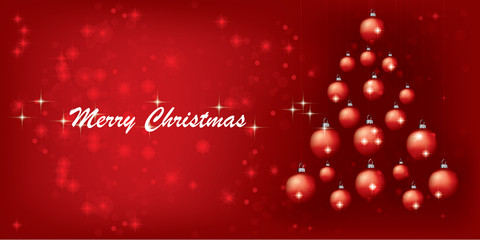 Christmas background design with tree and lampoons