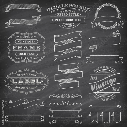 Grunge Vector Banners and Decorations poster