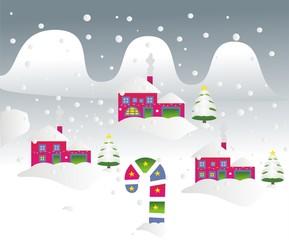 Navidad_Paisaje nevado de día