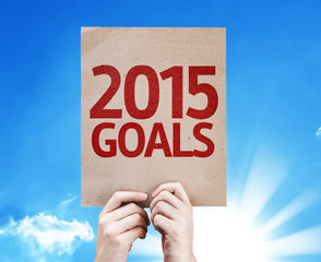 2015 Goals card with beautiful day