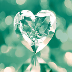 diamond shaped heart