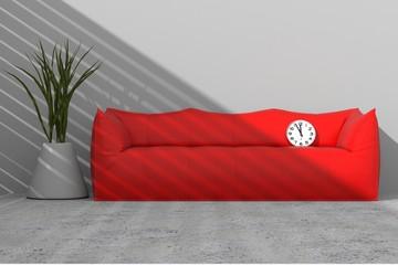Arredo 3D divano e vaso con orologio