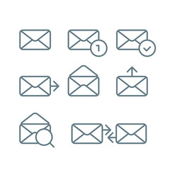 Different web browser icons set with rounded corners. Design ele