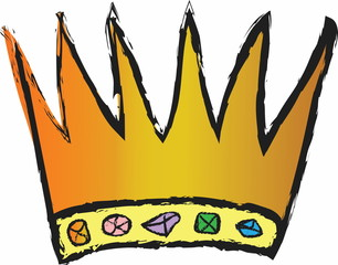 cartoon gold crown