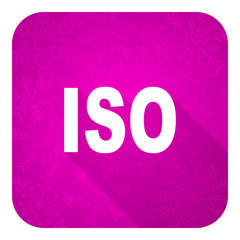 iso violet flat icon, christmas button