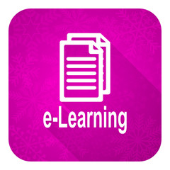 learning violet flat icon, christmas button