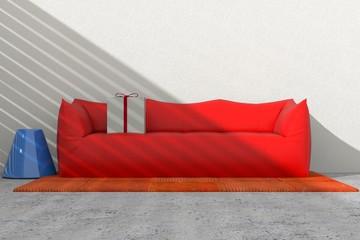 Arredo 3D divano e pacco regalo