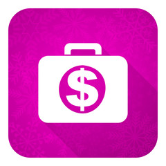 financial violet flat icon, christmas button