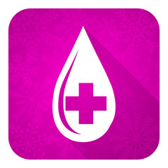blood violet flat icon, christmas button