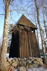 freistehender  Glockenturm in Schweden