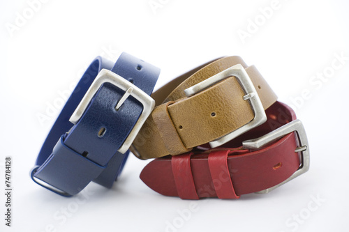 Colorful leather belts - 74784128