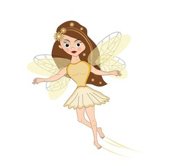 Yellow flying fairy