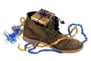 Le cadeau dans la chaussure