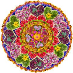 Isolated floral love mandala