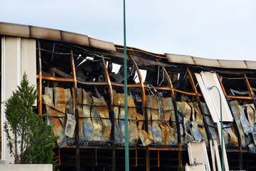 incendio de una fabrica en burgos