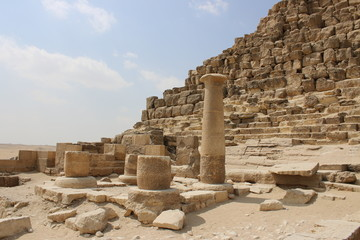 Ancient ruins near the pyramids of Giza. Egypt