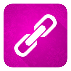 link violet flat icon,  chain sign