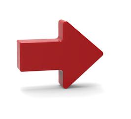 3d Red arrow symbol