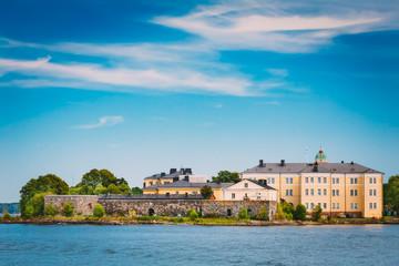 Sea Fortress. Residential Building At Suomenlinna In  Helsinki,