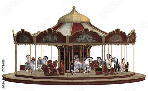 Fotobehang Carnaval Vintage Carousel