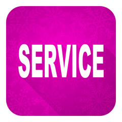 service violet flat icon, christmas button
