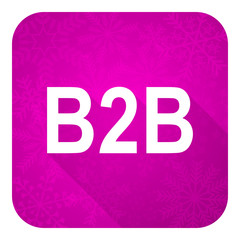 b2b violet flat icon, christmas button