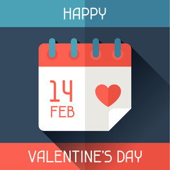 Happy Valentine's illustration in flat style.