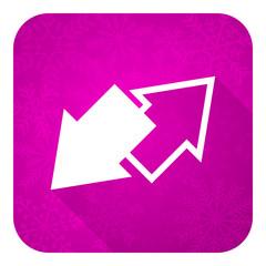 exchange violet flat icon, christmas button