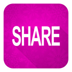 share violet flat icon, christmas button